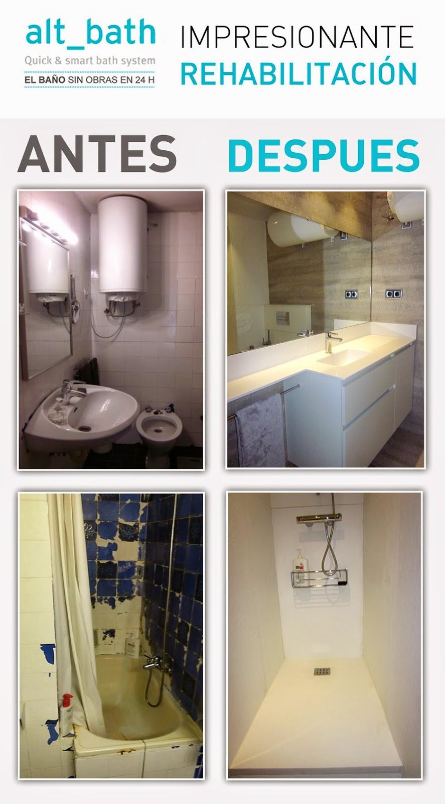 ANTES Y DESPUES: ALT_BATH REHABILITA OTRO BAÑO - Alt Bath